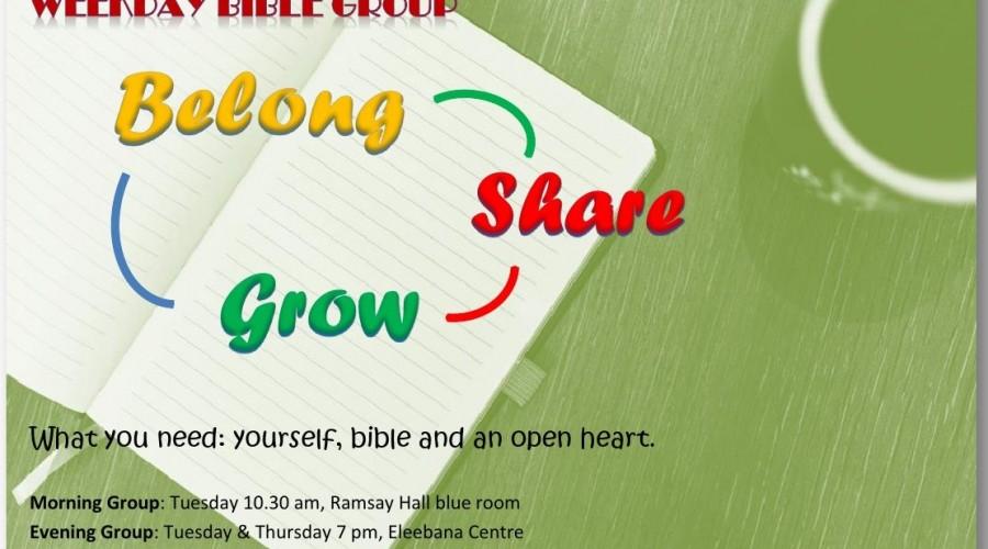 Weekday bible group 2-1-2